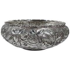 Beautiful Baltimore Repousse Sterling Silver Bowl by Jacobi & Jenkins
