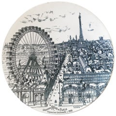 "Large Ceramic Dish, Celebrating ""La grande Roue de Paris"", circa 1900"