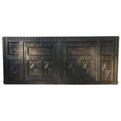 17th Century English Carved Oak Panel or Wall Decoration