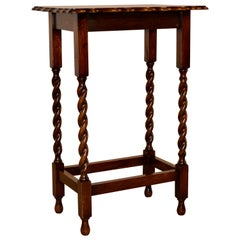 English Oak Side Table, circa 1900