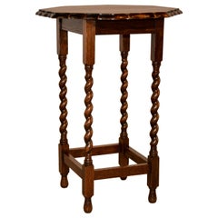 Octagonal Scalloped Side Table, circa 1900