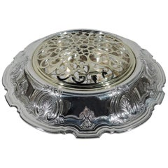 Antique Tiffany Classical Sterling Silver Centrepiece Flower Bowl