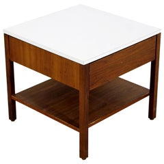 Mid-Century Modern Florence Knoll Single Drawer Walnut Nightstand, 1960s