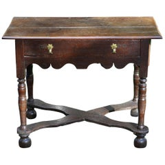 Original English Jacobean Oak Side Table