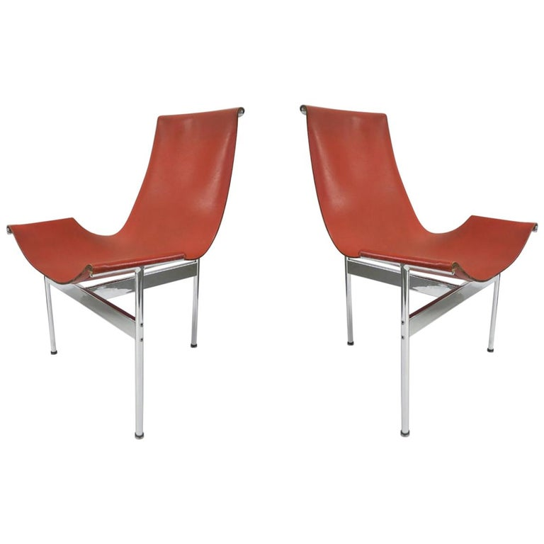 2 Original T-Chairs by Katavolos, Kelly, Littell for Laverne, 1967 For Sale