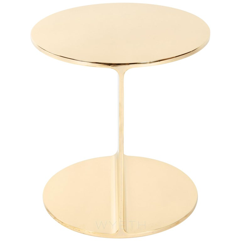 Bronze Round I Beam Table