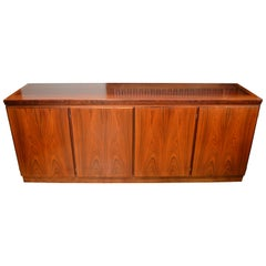 Midcentury Redwood Credenza from Skovby of Denmark with 4 Storage Compartments