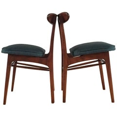 Midcentury Dining Chairs by Rajmund Halas in Green, 1960s, Set of 2