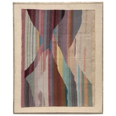 Handwoven Abstract in Plexi Case from a Steve Chase Palm Springs Estate