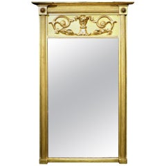 A Very Good Regency Period Giltwood Wall Mirror, English Circa 1825