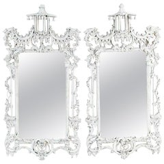 Vintage Chinese Chippendale Style Mirrors, Sold Singly