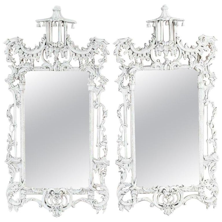 Vintage Chinese Chippendale Style Mirrors, Sold Singly For Sale