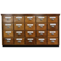 Bank of Late 19th Century German Apothecary Drawers