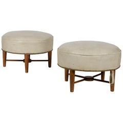 Pair of 1950s, French Ottomans