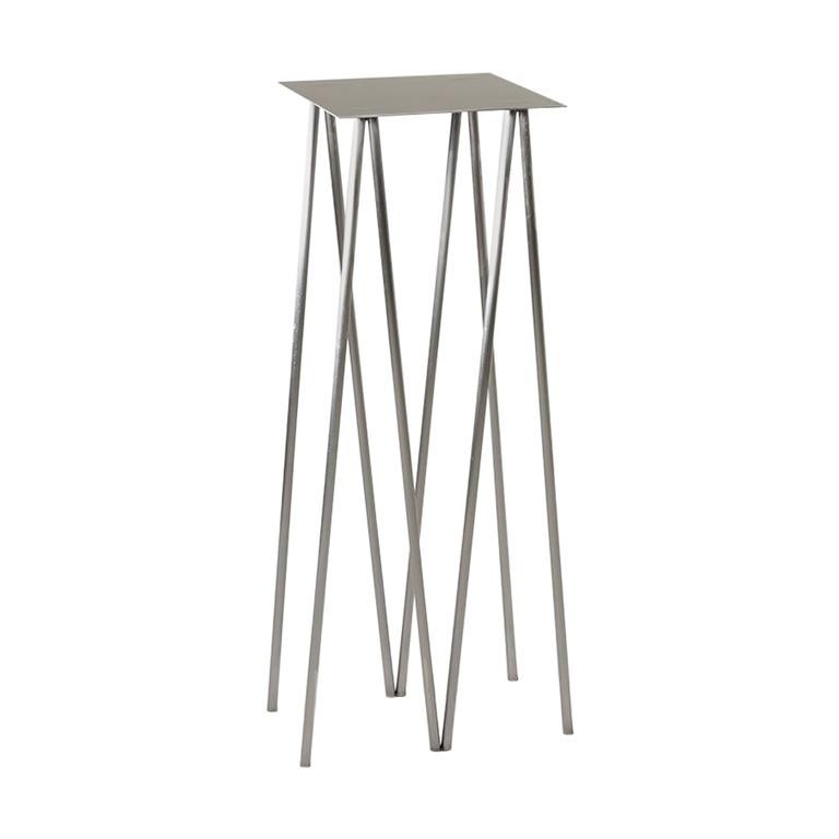 Paper Table, Square, in Polished Steel Finish by UMÉ Studio