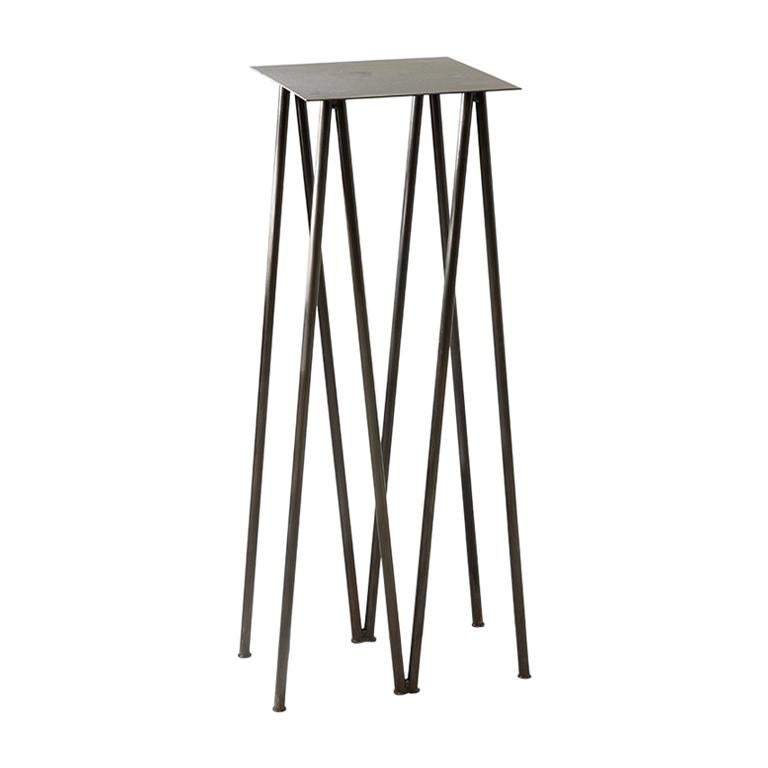 Paper Table, Square, in Stained Black Finish by UMÉ Studio