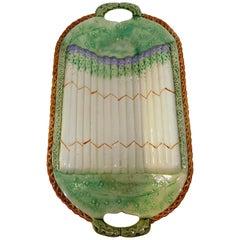 English Majolica Asparagus Cradle, Aesthetic Movement Influence, circa 1885