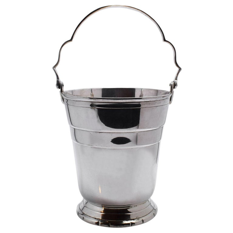 1930s Art Deco Silver Plated Ice Bucket /Wine Cooler