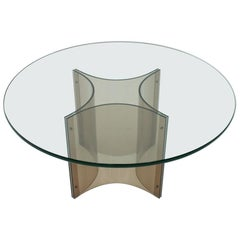 Lucite and Glass Coffee Table, 1960s