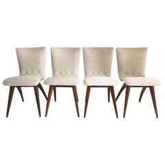 Midcentury Set of four Dining Chairs, Model Swing by CJ van Os Culemborg