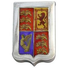 Victorian Silver and Enamel Royal Standard Flag Golden Jubilee Vesta Case, 1886