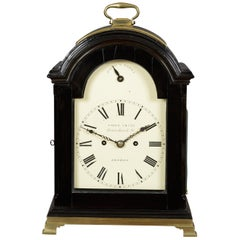 George III Ebonized Striking Bracket Clock by Jabez Smith, London