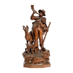 Small Black Forest Wood Carving of a Shepherd