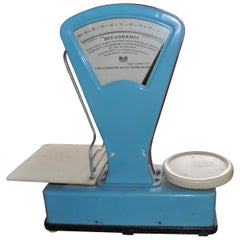 Vintage European Market Scale in a Dusty Blue