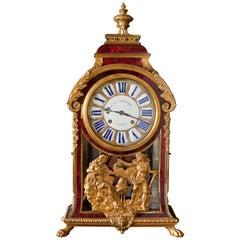 Louis XIV Tortoiseshell Boulle Bracket Clock