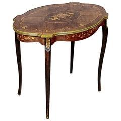 Intarsiated Coffee Table, circa 1940-1950