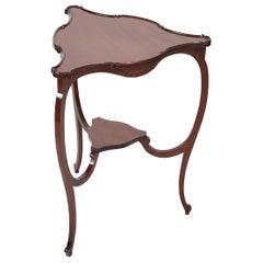 Quality Edwardian Mahogany Shaped Top Lamp Table