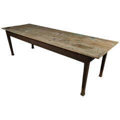 Large Farm Table from France, circa 1940