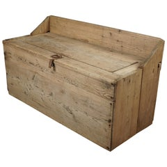 Rare Swedish Trunk in Pine, circa 1850