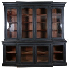 19th Century English Painted Bookcase