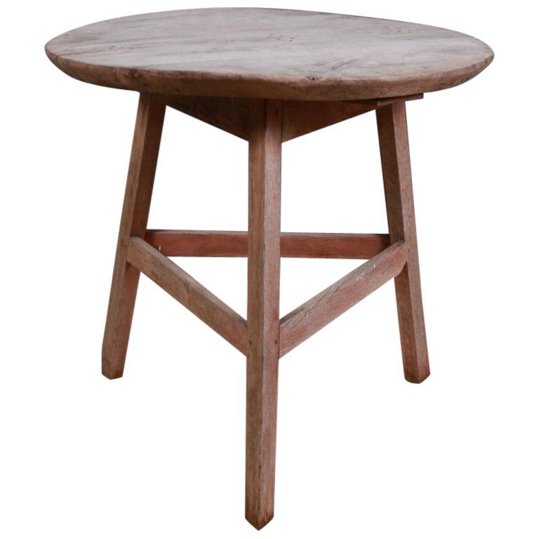 English Oak Cricket Table For Sale