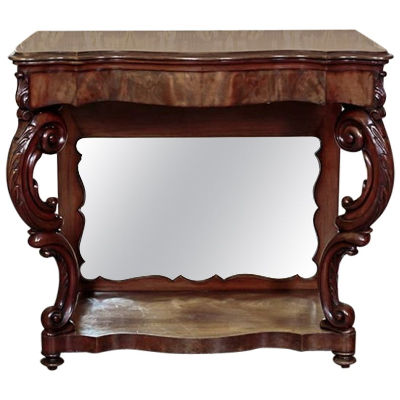 Walnut Console Table from the Mid-19th Century