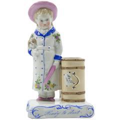 19th Century Estate German Porcelain Heirloom Spill Vase