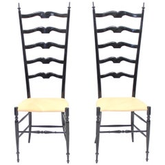 Vintage Italian Chiavari Chairs, 1950s, Set of Two