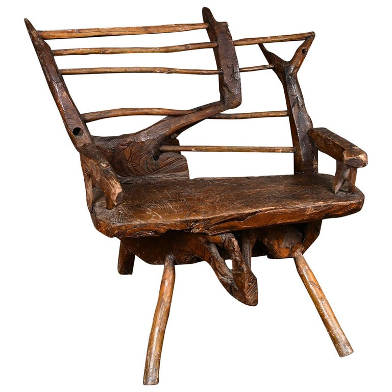 Primitive Italian Chair For Sale