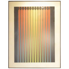 Dordevic Miodrag Framed Op Art Painting