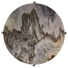 Majestic Peaks, an Extraordinary Natural Stone Painting, One-of-a-Kind