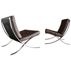 Rare Barcelona Chairs by Ludwig Mies van der Rohe for Gerald R. Griffith