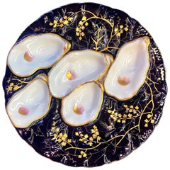 Antique French Oyster Plate, circa 1880-1890