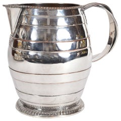 Antique English Silver Plate / Copper Water Pitcher