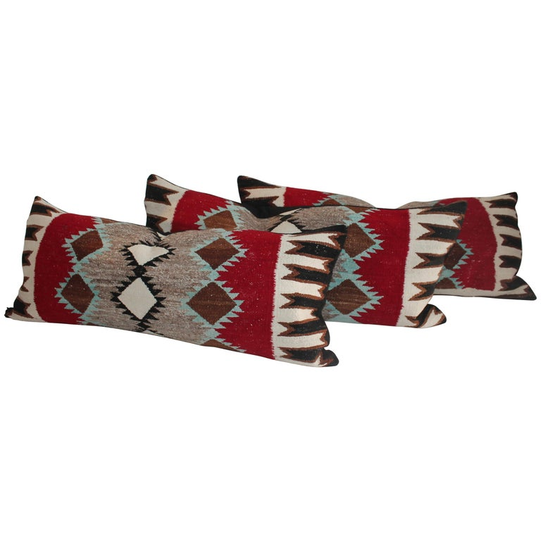 Navajo Indian Weaving Bolster Pillows For Sale