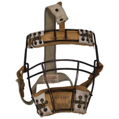 Vintage Leather, Steel and Rawhide Wilson Catcher's Mask, circa 1930
