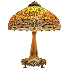 Jeweled Drop Head Dragonfly by Tiffany Studios, Stamped, circa 1910
