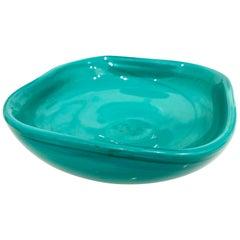 Signed Italian Murano Venini Glass Bowl