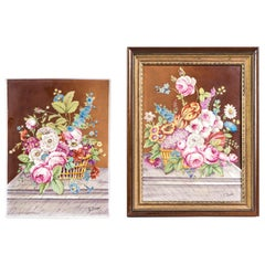 Pair of 19th Century, Signed Floral Still Life Plaques