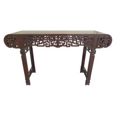 20th Century Refinished Elmwood Asian Altar Table